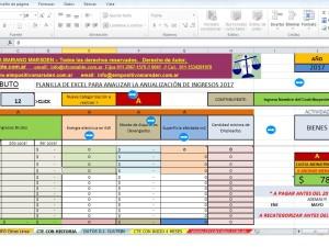 DEMO Simulador en Excel MONOTRIBUTO 2017 a Categorizar